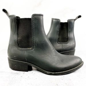 Jeffrey Campbell Black Rubber Ankle Boots - 11